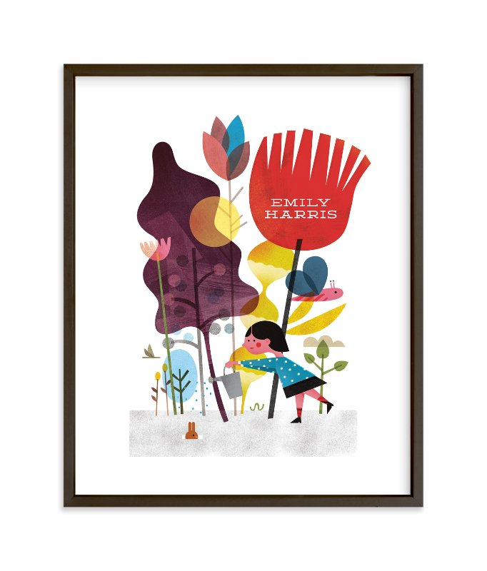 """""""Colorful Garden"""" - Children's Custom Art Print by Morgan Ramberg in beautiful frame options and a variety of sizes."""