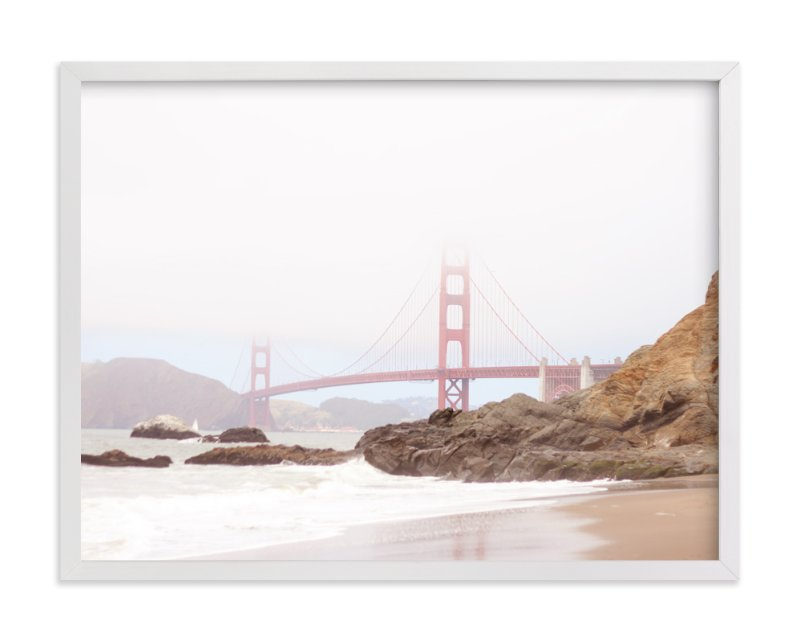 """""""The Golden Gate in Fog"""" - Art Print by Sharon Rowan in beautiful frame options and a variety of sizes."""