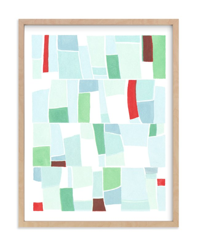 """""""Blue Fields"""" - Art Print by Hi Uan Kang Haaga in beautiful frame options and a variety of sizes."""