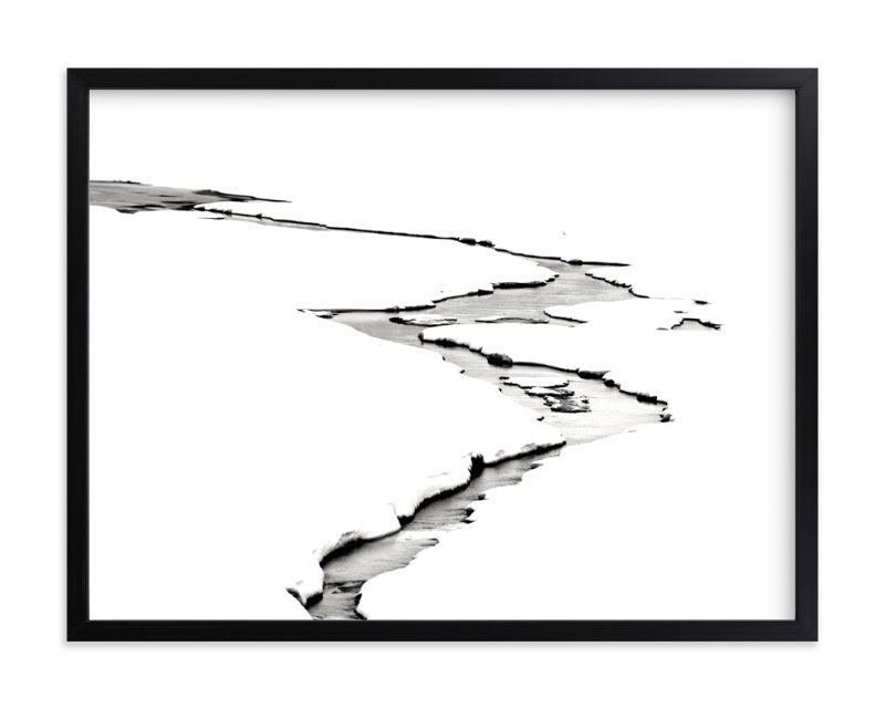 """Silver Ice"" - Art Print by Leslie Le Coq in beautiful frame options and a variety of sizes."
