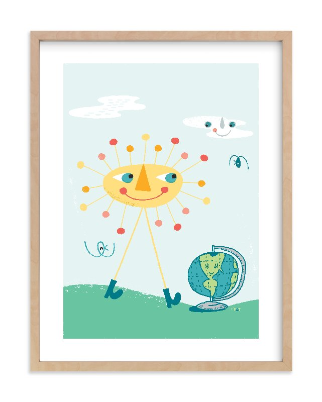 """Good Day for a Walk"" - Limited Edition Art Print by ERAY in beautiful frame options and a variety of sizes."