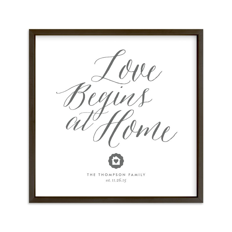 """Love Starts Here"" by Eric Clegg in beautiful frame options and a variety of sizes."