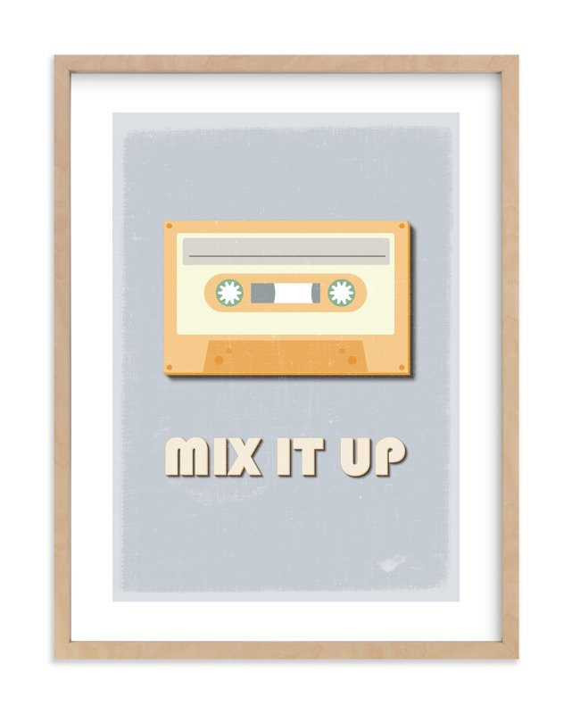"""mix it up"" - Limited Edition Art Print by Julieta Urgilles in beautiful frame options and a variety of sizes."