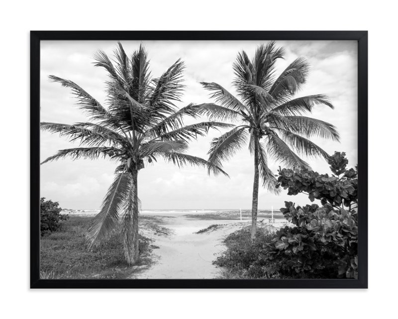 """Coconut gate"" - Limited Edition Art Print by Eliane Lamb in beautiful frame options and a variety of sizes."