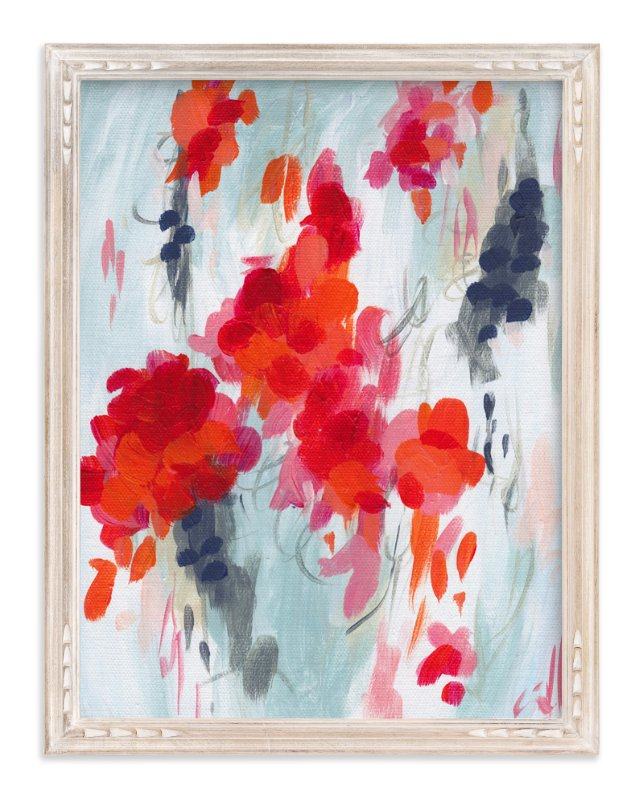 """""""Poppies I"""" - Art Print by Iron Range Artery in beautiful frame options and a variety of sizes."""