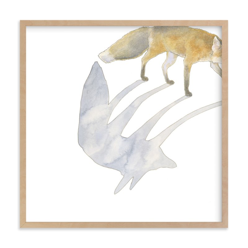 """""""Fox Shadow"""" - Art Print by Natalie Groves in beautiful frame options and a variety of sizes."""