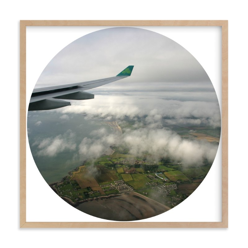 """""""Dublin to Heathrow"""" - Art Print by Becky Nimoy in beautiful frame options and a variety of sizes."""