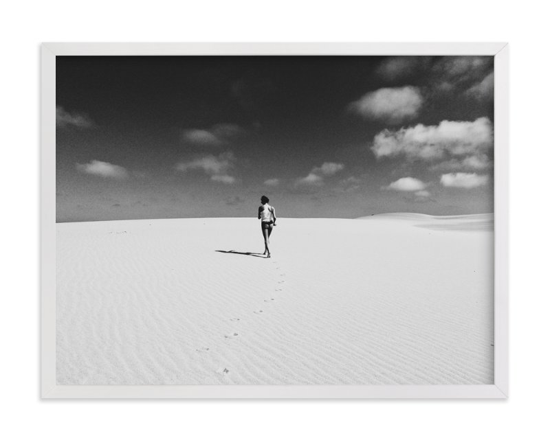 """""""Walk Alone"""" - Art Print by Christian Florin in beautiful frame options and a variety of sizes."""