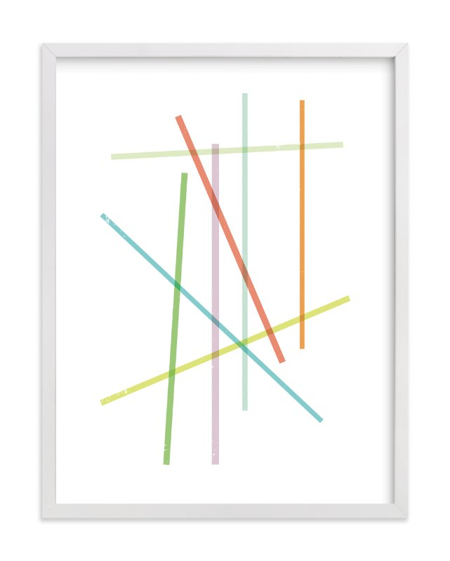 """Pick-Up Stix"" - Art Print by Design Lotus in beautiful frame options and a variety of sizes."