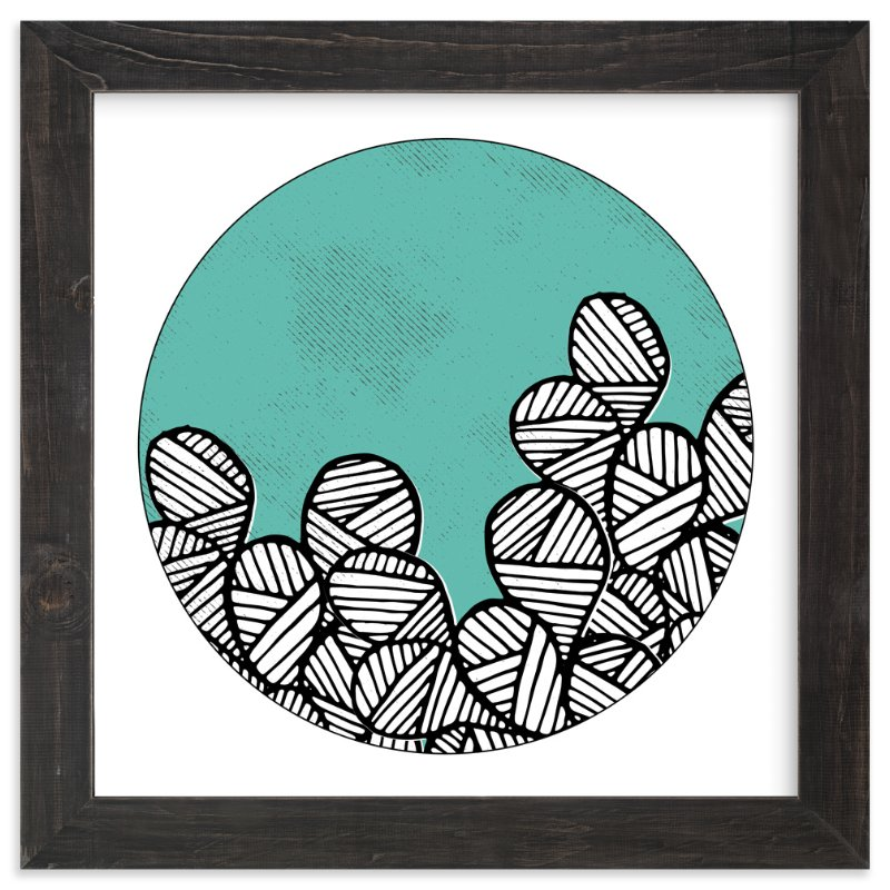 """""""Patterned Cactus"""" - Art Print by Maria Hilas Louie in beautiful frame options and a variety of sizes."""