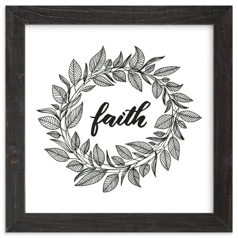 """Faith Wreath by LY"" - Art Print by Lyna Ti in beautiful frame options and a variety of sizes."