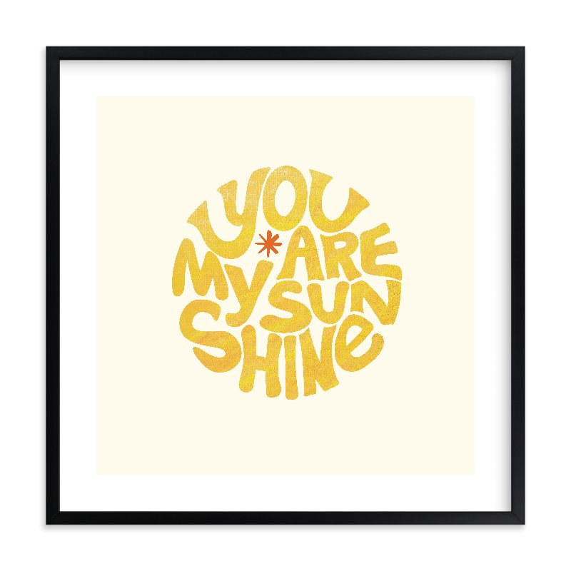 """""""Forever Sunshine"""" - Limited Edition Art Print by Carrie ONeal in beautiful frame options and a variety of sizes."""