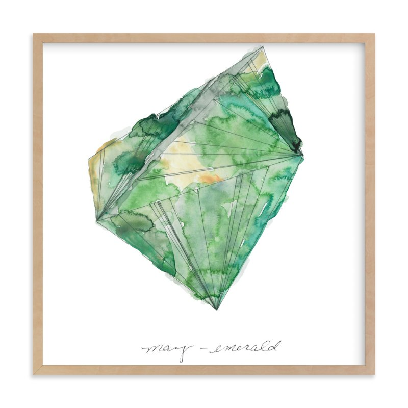 """May - Emerald"" - Art Print by Naomi Ernest in beautiful frame options and a variety of sizes."