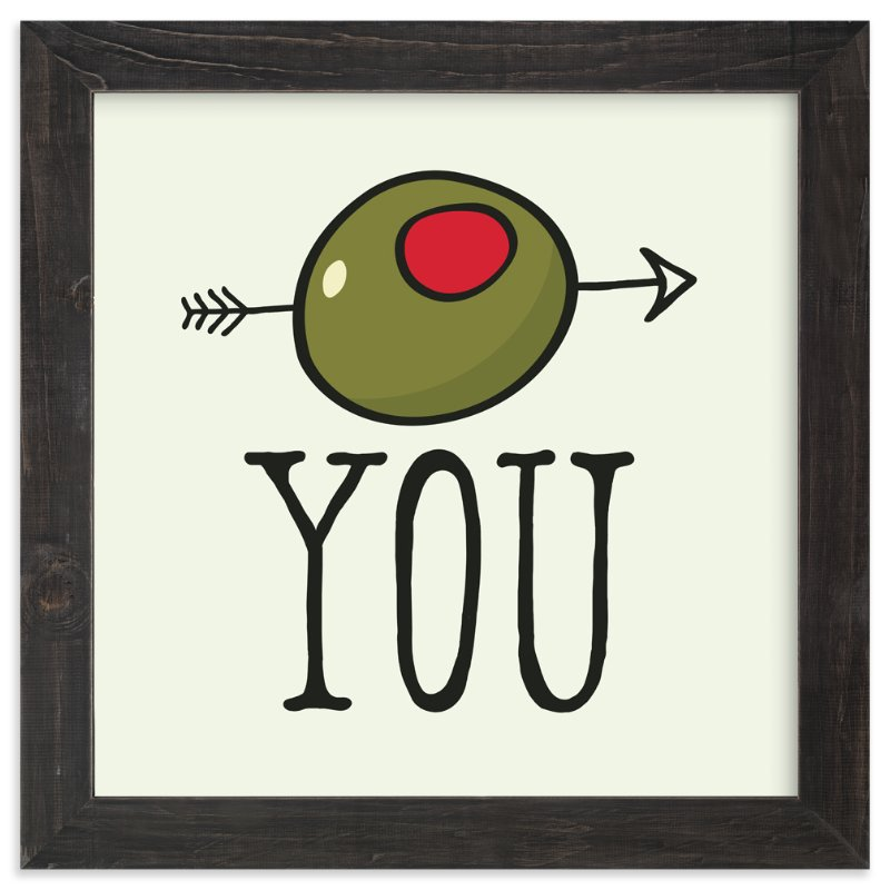 """Olive (I Love) You"" - Art Print by Molly Brekke in beautiful frame options and a variety of sizes."