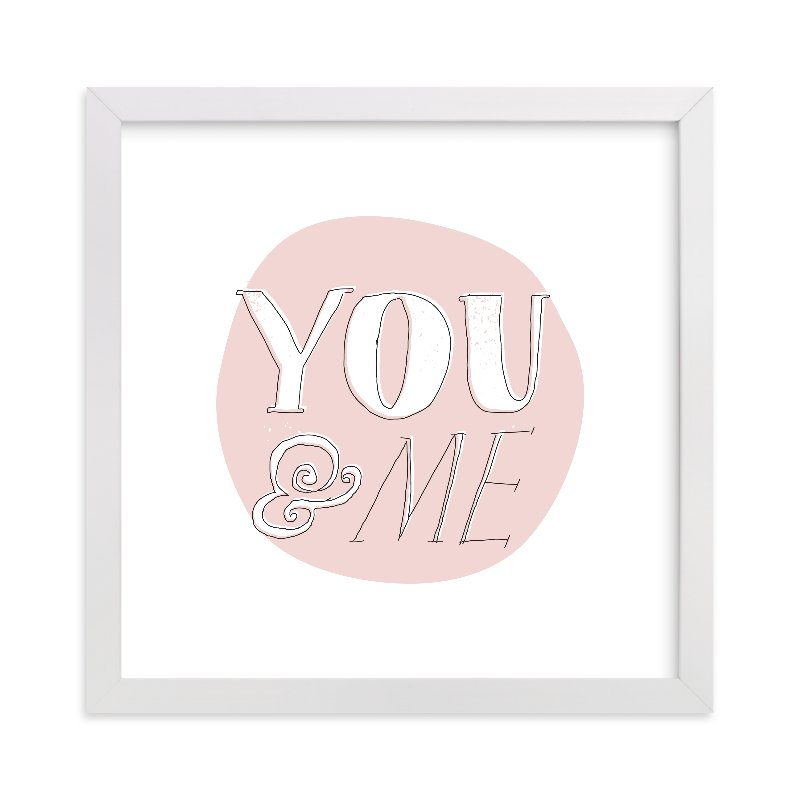 """""""You and Me"""" - Limited Edition Art Print by Paper Rose in beautiful frame options and a variety of sizes."""