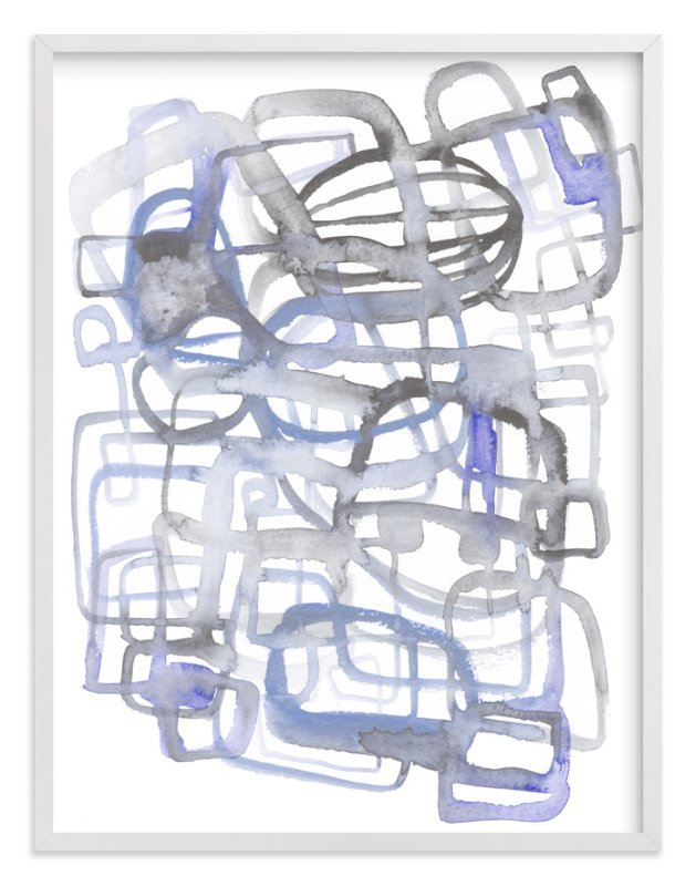 """Feeling Blue"" - Art Print by Kim Johnson in beautiful frame options and a variety of sizes."
