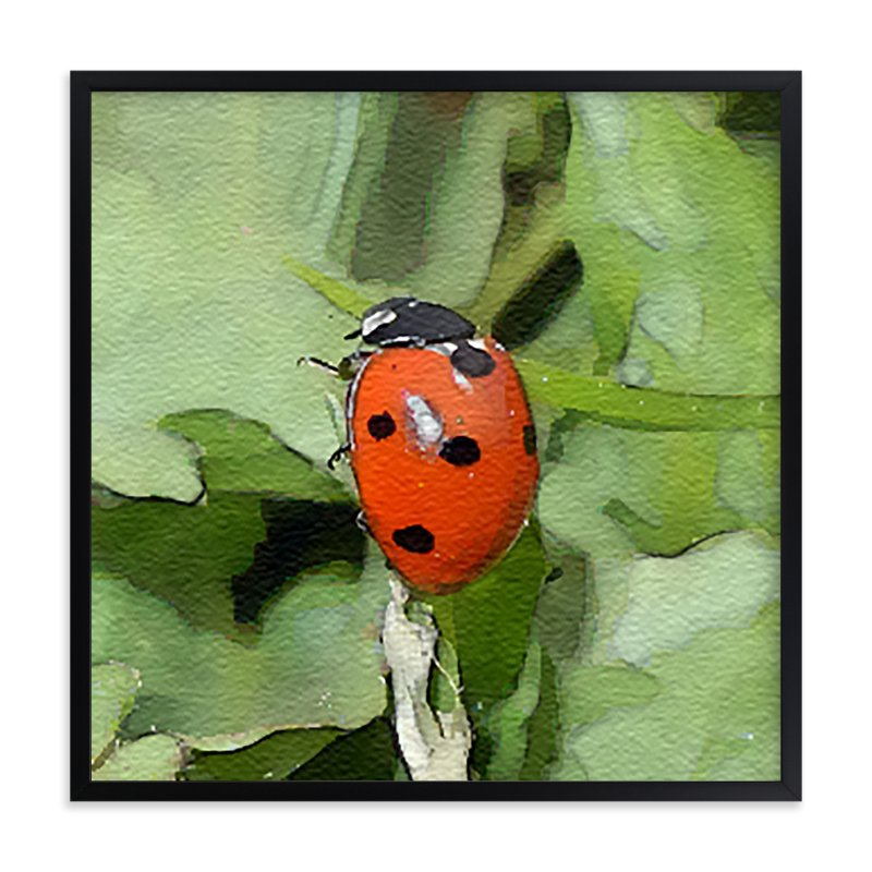 """Lady Bug One"" - Art Print by Margaret Williams in beautiful frame options and a variety of sizes."