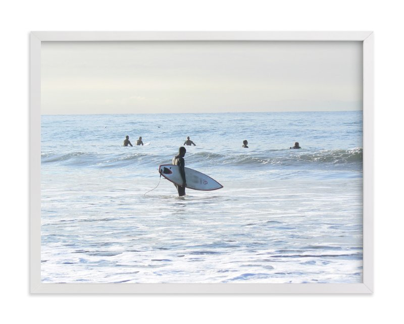 """""""Early morning surfer, Venice Beach"""" - Limited Edition Art Print by Annie Seaton in beautiful frame options and a variety of sizes."""