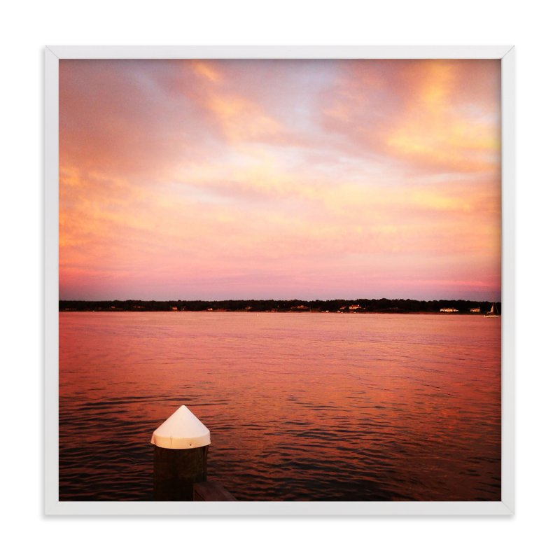 """Pink Sky"" - Art Print by Jill Fisher in beautiful frame options and a variety of sizes."