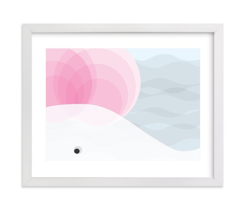 """White Whale"" - Art Print by Aga in beautiful frame options and a variety of sizes."