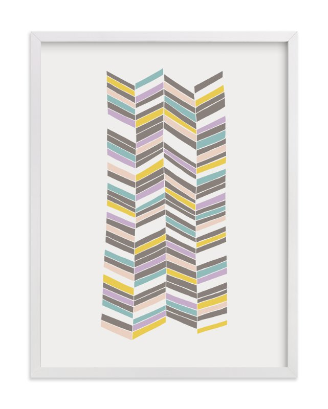 """""""Colorful Herringbone"""" - Art Print by Amber Barkley in beautiful frame options and a variety of sizes."""