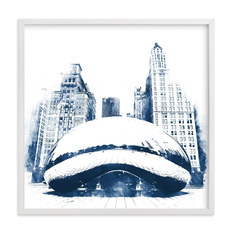 """""""Chicago Bean"""" - Art Print by Paul Berthelot in beautiful frame options and a variety of sizes."""