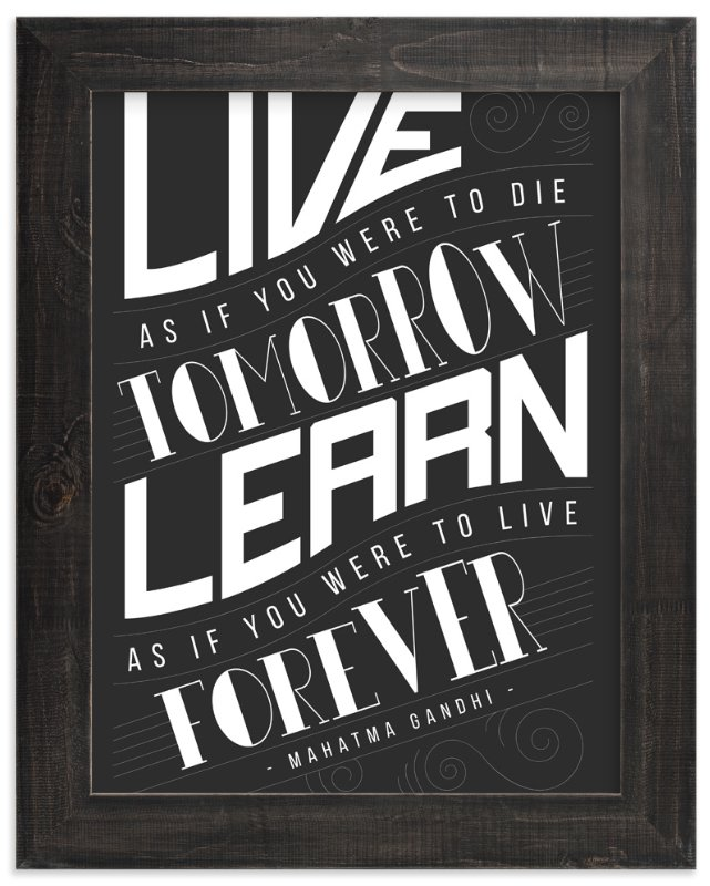 """How To Live And Learn"" - Art Print by Mai Jimenez in beautiful frame options and a variety of sizes."