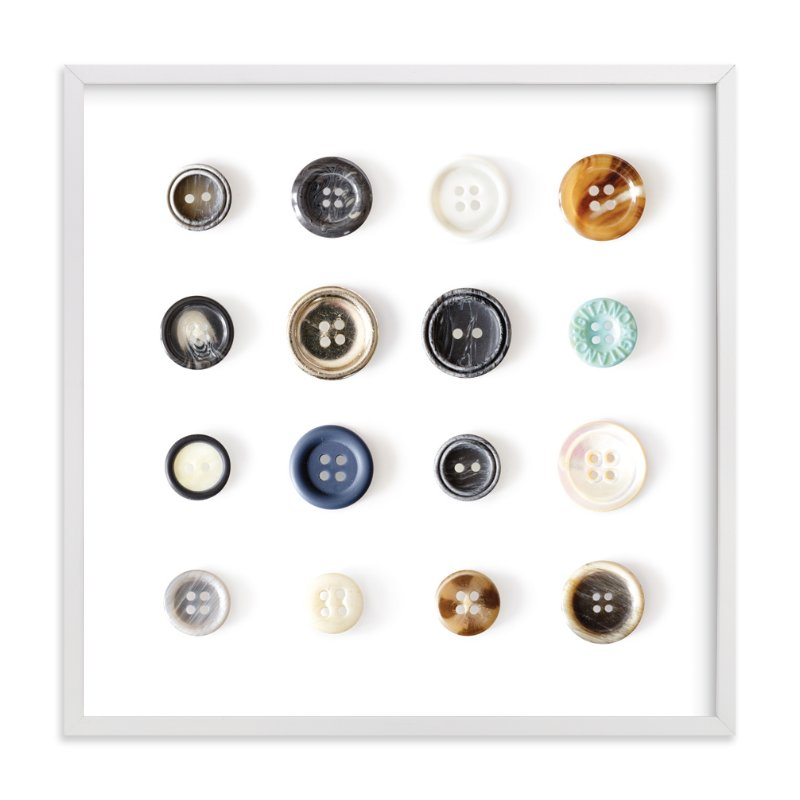"""""""Polka Buttons"""" - Art Print by Erin Niehenke in beautiful frame options and a variety of sizes."""