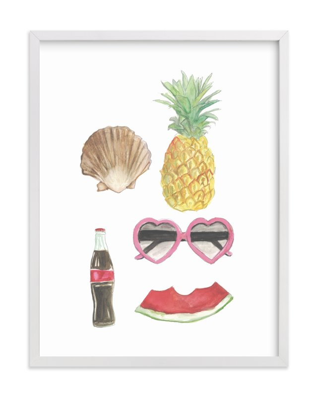 """""""Summertime"""" - Art Print by Danielle Elizabeth in beautiful frame options and a variety of sizes."""