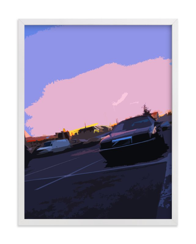 """""""Parking Lot Sunset"""" - Art Print by Jeff Preuss in beautiful frame options and a variety of sizes."""