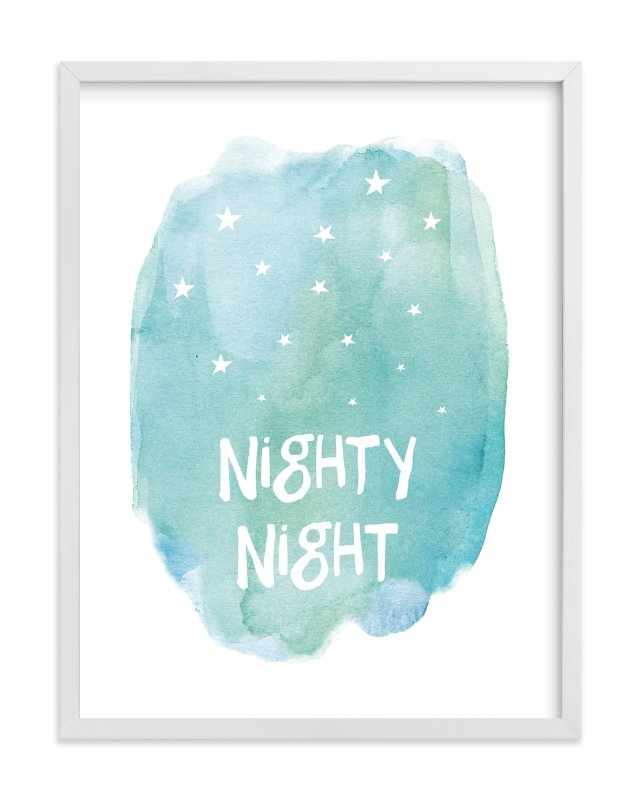 """""""Nighty Night"""" - Art Print by Amy Hall in beautiful frame options and a variety of sizes."""