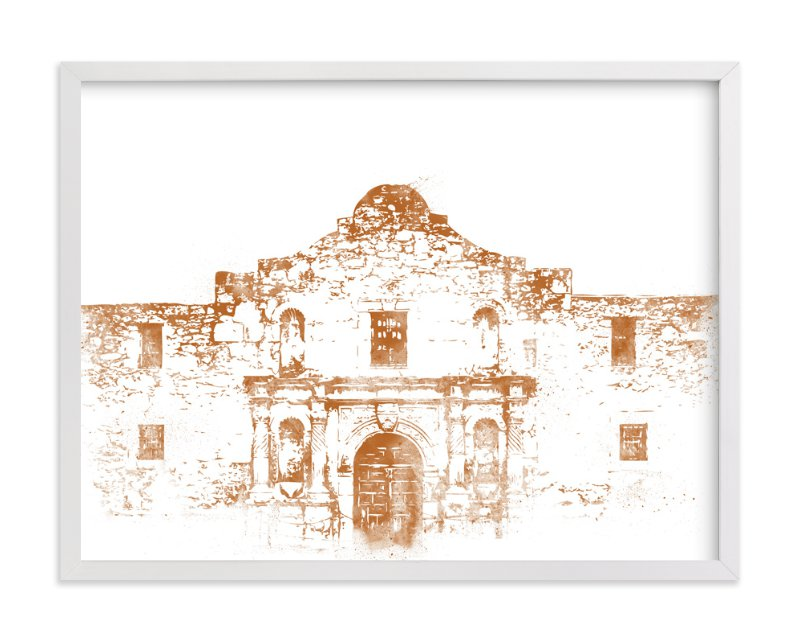 """The Alamo"" - Art Print by Paul Berthelot in beautiful frame options and a variety of sizes."