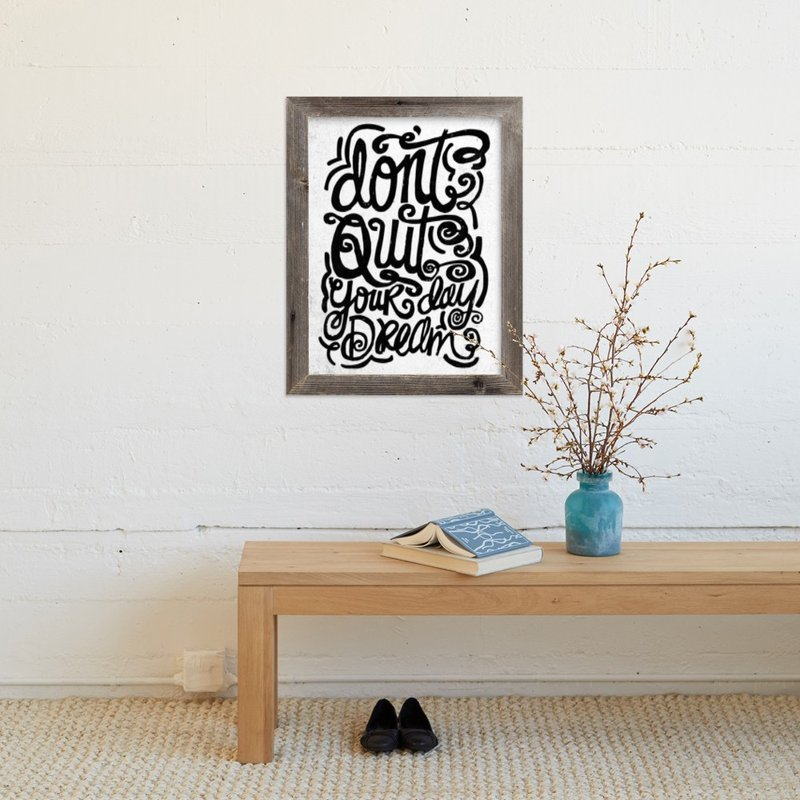 """don't quit your day dream"" - Art Print by Matthew Taylor Wilson in beautiful frame options and a variety of sizes."