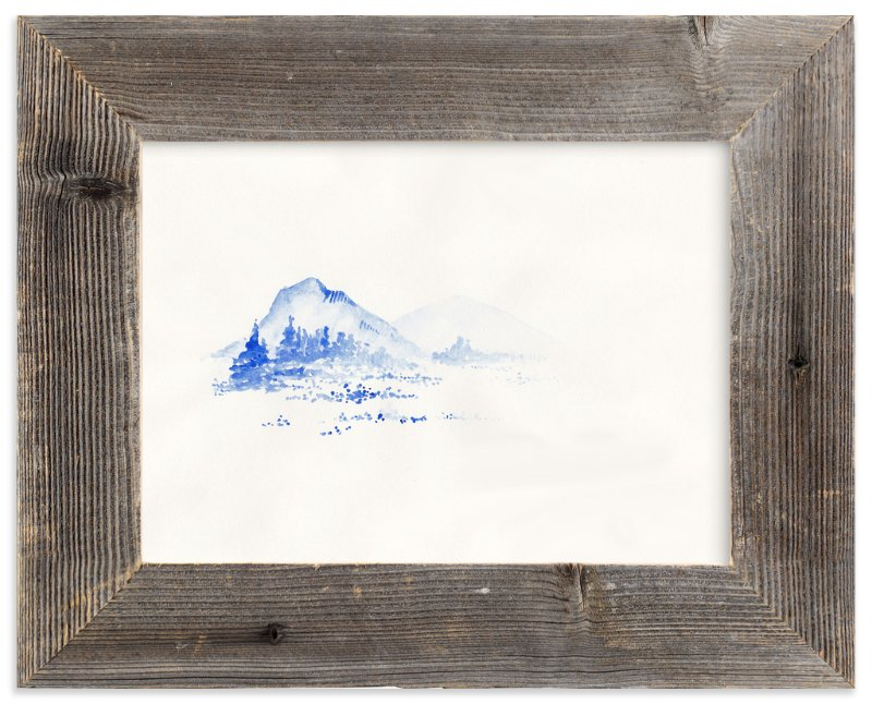 """Cascade Blues"" - Art Print by Marguerite Andrews in beautiful frame options and a variety of sizes."