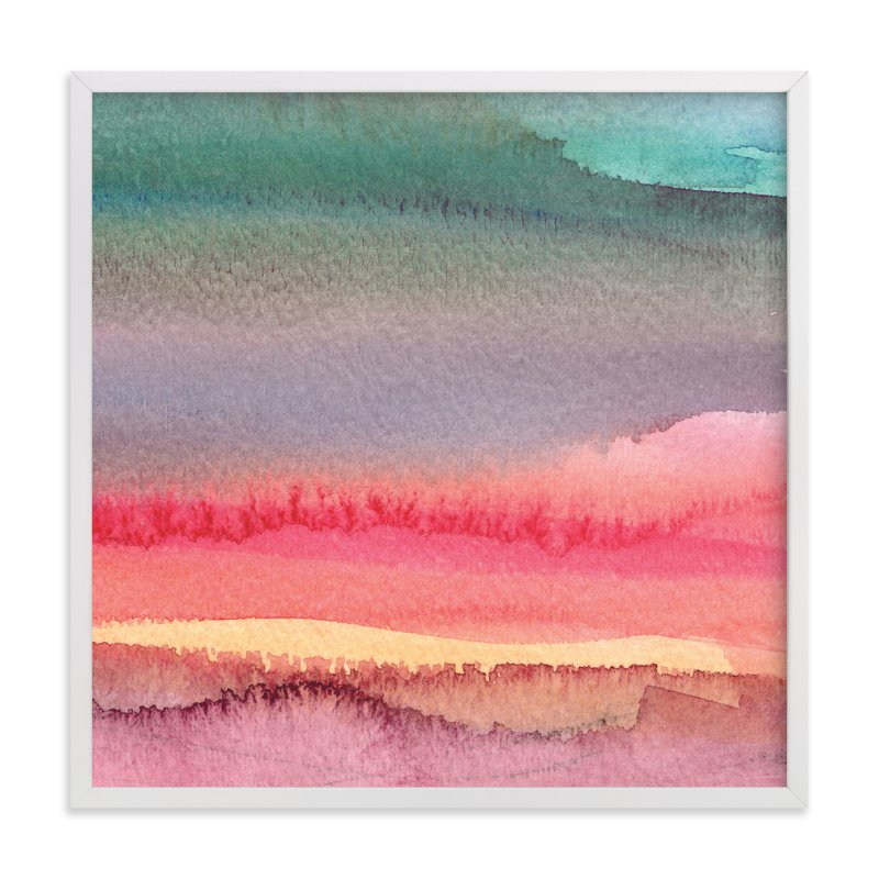 """Desert and Mountains"" - Art Print by Katherine Moynagh in beautiful frame options and a variety of sizes."