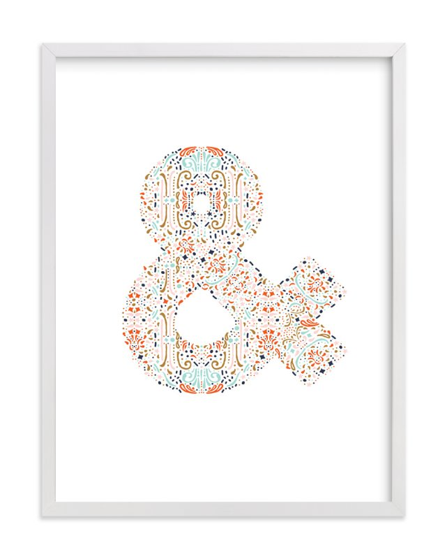"""""""AND"""" - Art Print by Phrosne Ras in beautiful frame options and a variety of sizes."""