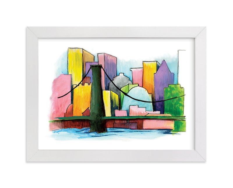 """View From The Harbor"" - Art Print by Lisa Travis in beautiful frame options and a variety of sizes."