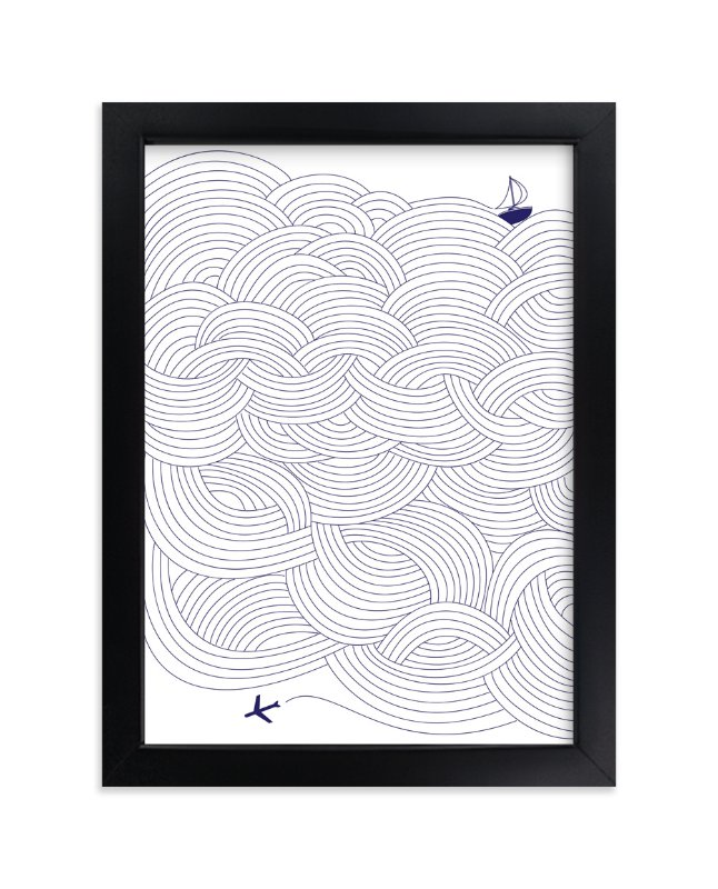 """Field of Waves"" - Art Print by Papersheep in beautiful frame options and a variety of sizes."
