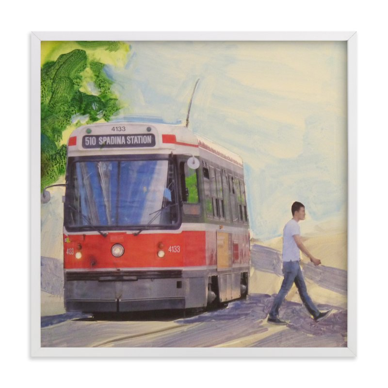"""""""Spadina Streetcar"""" - Art Print by Annie Seaton in beautiful frame options and a variety of sizes."""