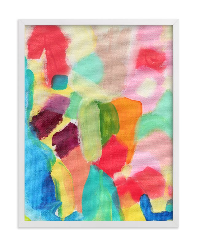 """""""Color Blocking"""" - Art Print by Lindsay Megahed in beautiful frame options and a variety of sizes."""