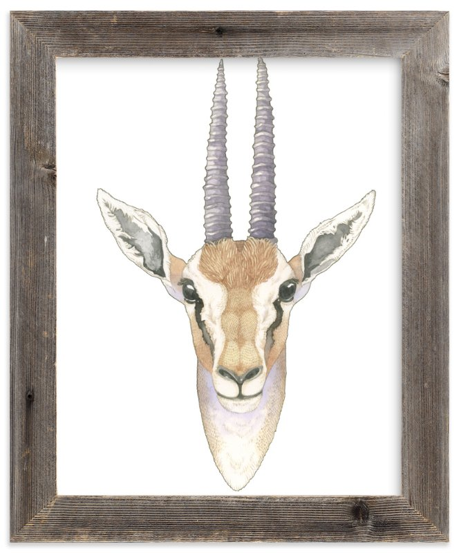 """""""African Gazelle"""" - Art Print by Natalie Groves in beautiful frame options and a variety of sizes."""
