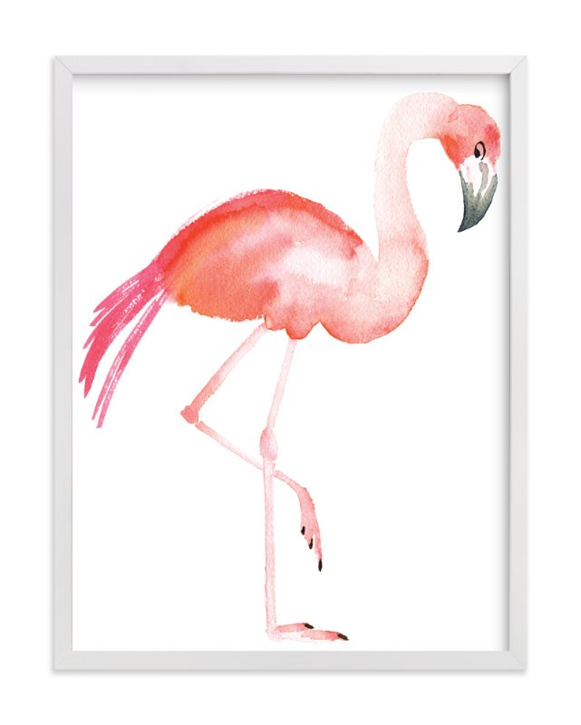 """""""Flamingo Road"""" - Art Print by Smudge Design in beautiful frame options and a variety of sizes."""