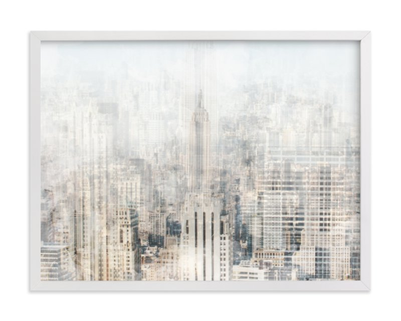 """Big Apple Blur"" - Art Print by Pockets of Film in beautiful frame options and a variety of sizes."