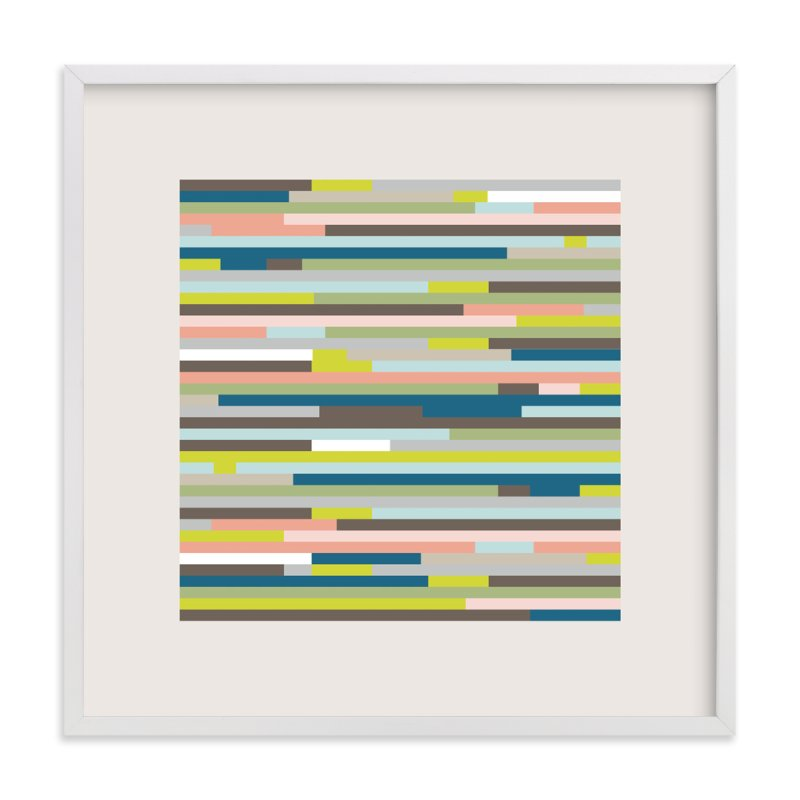 """""""Color Grid"""" - Art Print by Erin Deegan in beautiful frame options and a variety of sizes."""