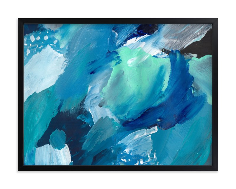 """""""Making Waves"""" - Art Print by Juniper Briggs in beautiful frame options and a variety of sizes."""