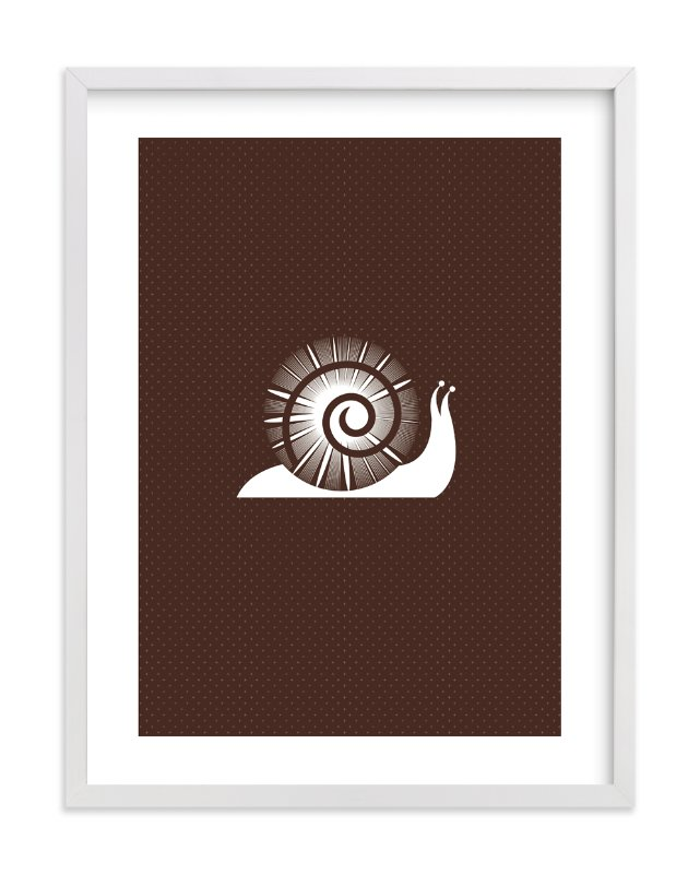 """""""Sophisticated Snail"""" - Art Print by three percent milk in beautiful frame options and a variety of sizes."""