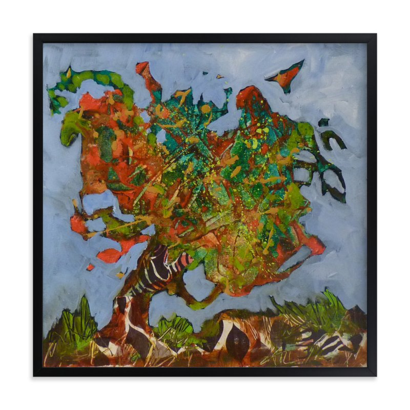 """Mon arbre orange"" - Art Print by Johanne Roy in beautiful frame options and a variety of sizes."