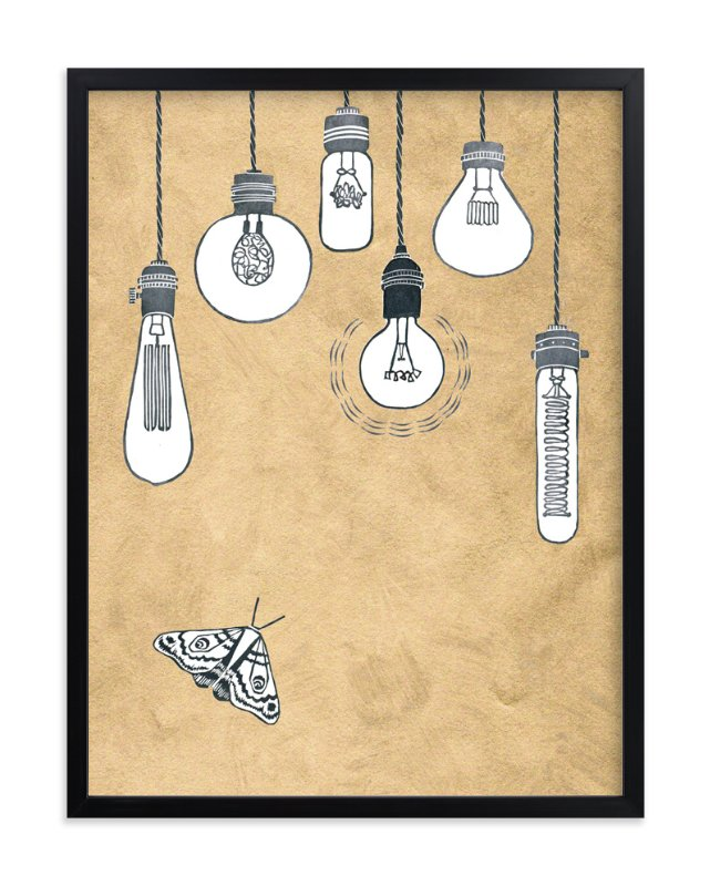 """Hit the Light"" - Art Print by Miriam Tribe in beautiful frame options and a variety of sizes."