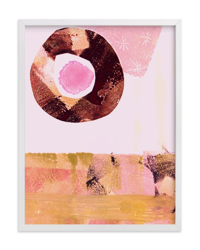 """""""Pink & Brown"""" - Art Print by KATE QUALE in beautiful frame options and a variety of sizes."""