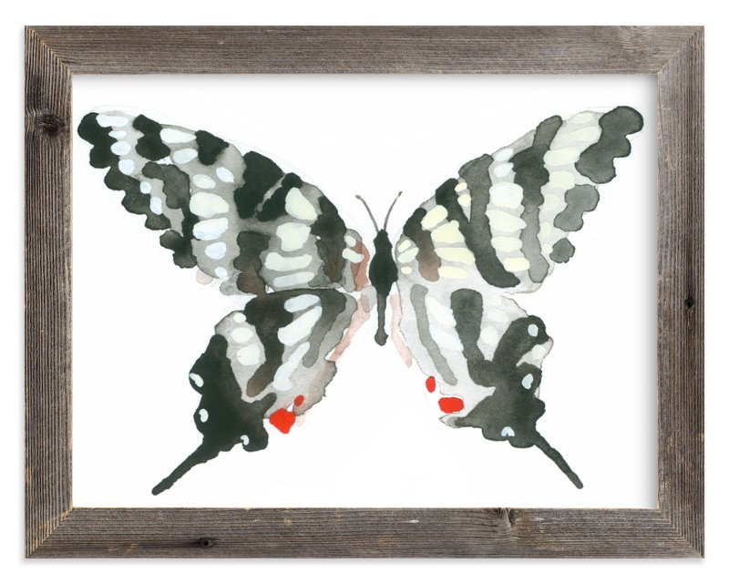 """Zebra Swallowtail"" - Art Print by Betty Hatchett in beautiful frame options and a variety of sizes."
